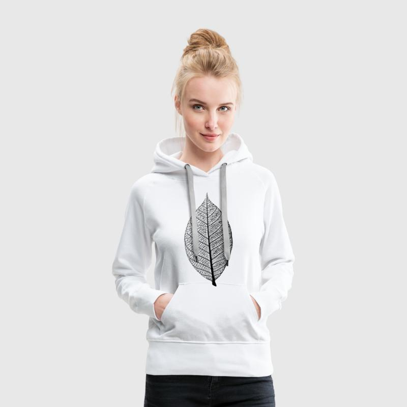 leaf tree forest skeleton pattern nerve love heart Hoodies & Sweatshirts - Women's Premium Hoodie