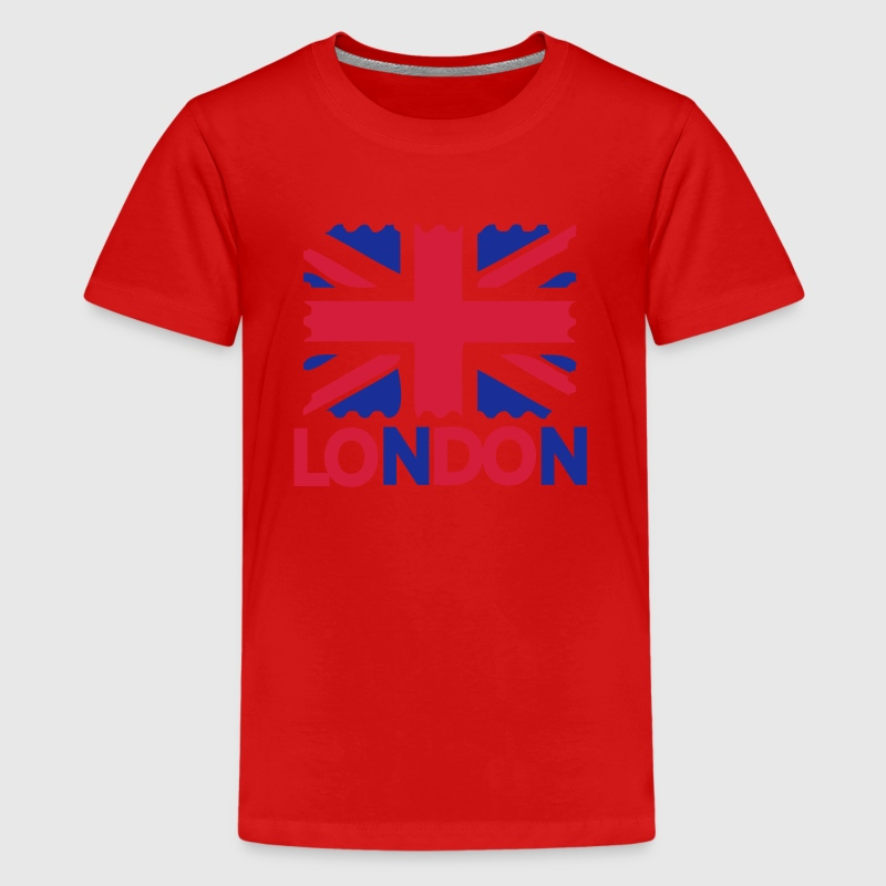 LONDON text flag Teenage Classic T-shirt - Teenage Premium T-Shirt