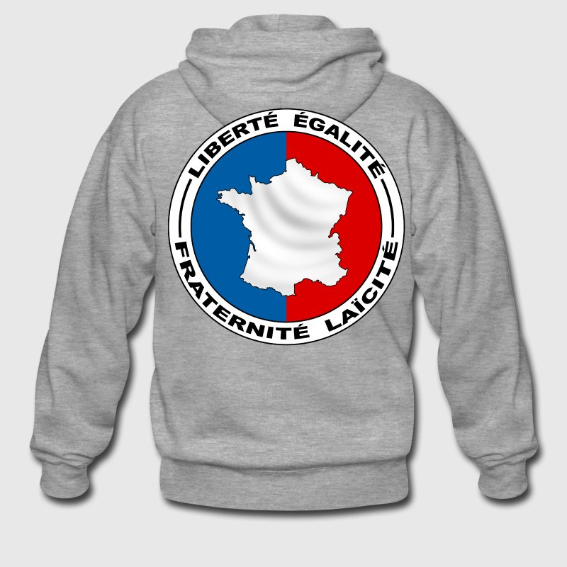 France carte tricolore Sweat-shirts - Veste à capuche Premium Homme