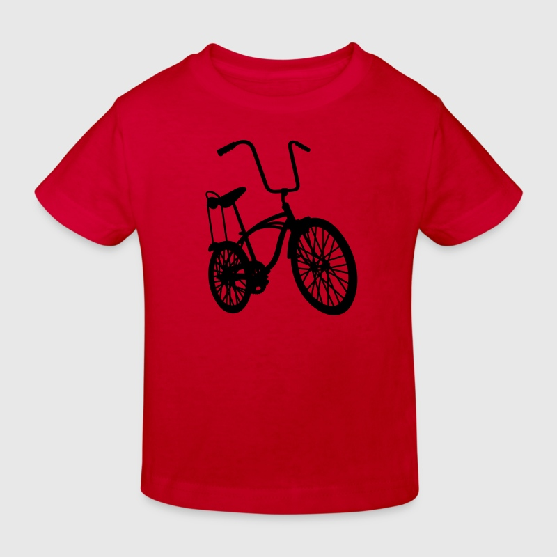 Rood old school retro bike Kinder shirts - Kinderen Bio-T-shirt