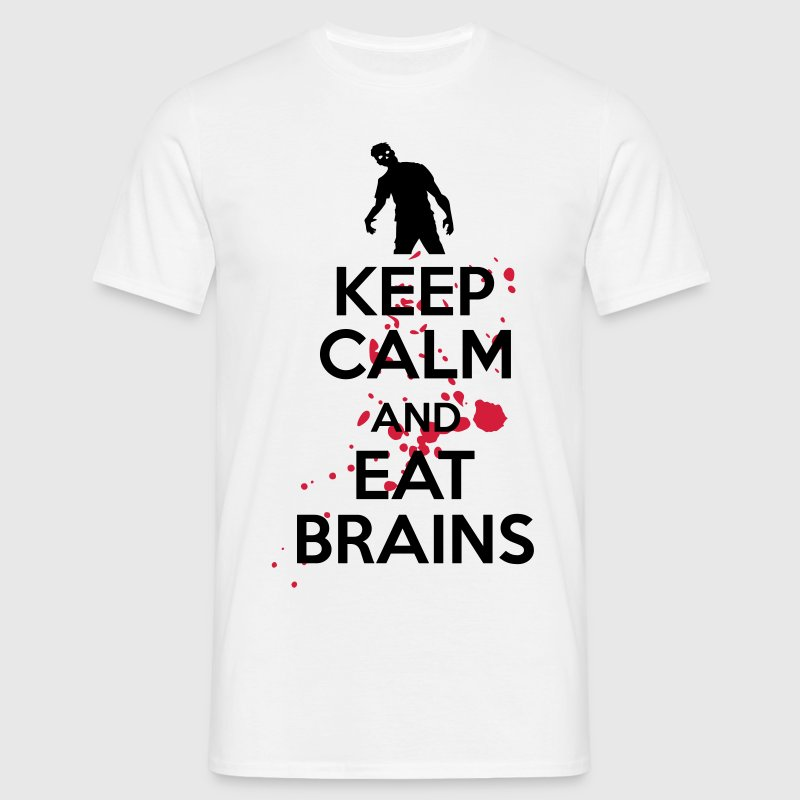 Keep calm and eat brains Camisetas - Camiseta hombre