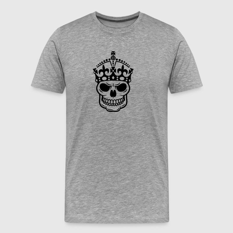 Keep Calm Skull Crown T-Shirts - Men's Premium T-Shirt
