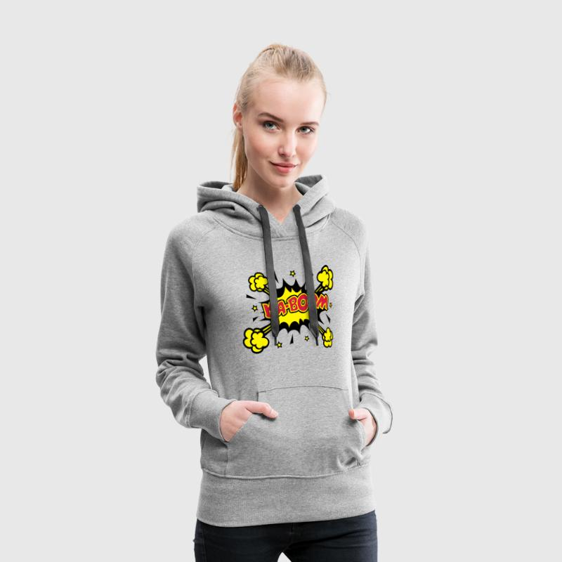 KABOOM, comic speech bubble, cartoon, word balloon Sweatshirts - Dame Premium hættetrøje