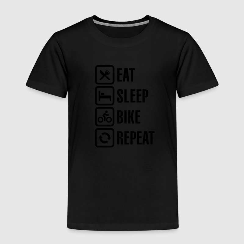 Eat sleep bike repeat  Shirts - Kids' Premium T-Shirt