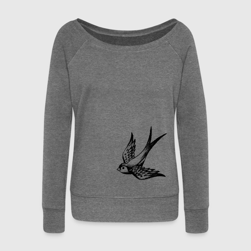 swallow bird summer wings Hoodies & Sweatshirts - Women's Boat Neck Long Sleeve Top