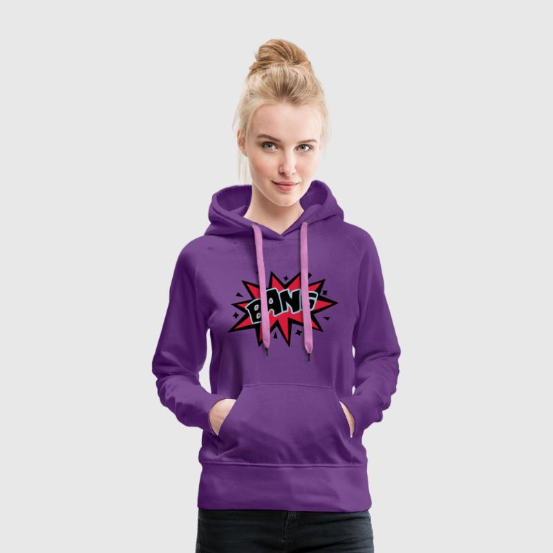 BANG, comic speech bubble, cartoon, word balloon Sweatshirts - Dame Premium hættetrøje