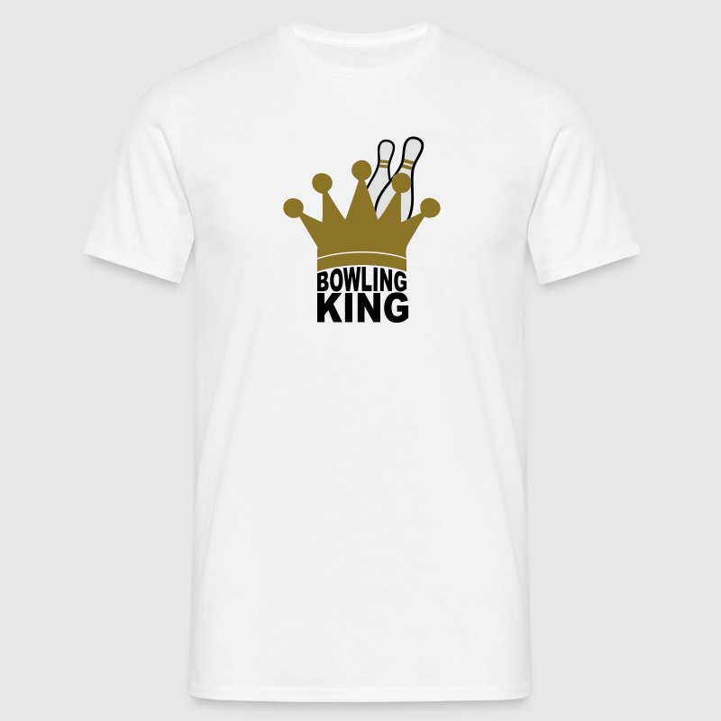 White Bowling King Men's Tees - Men's T-Shirt