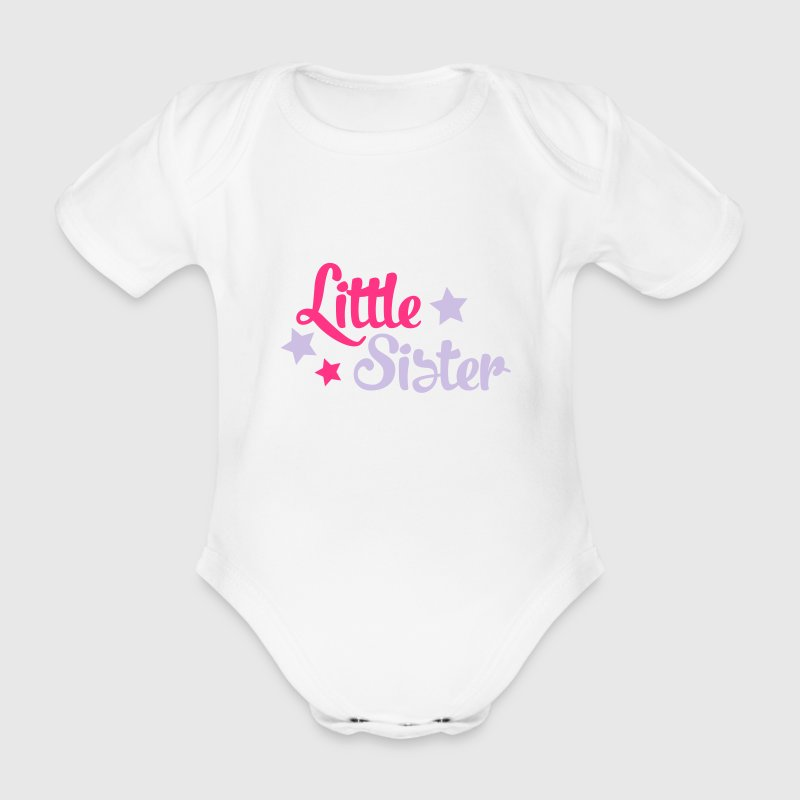 little sister T-Shirts - Baby Bio-Kurzarm-Body