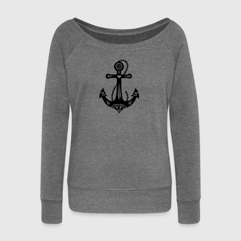 Anchor & Sacred Rose, Symbol Hope, Faith & Love Sudaderas - Sudadera con escote drapeado mujer