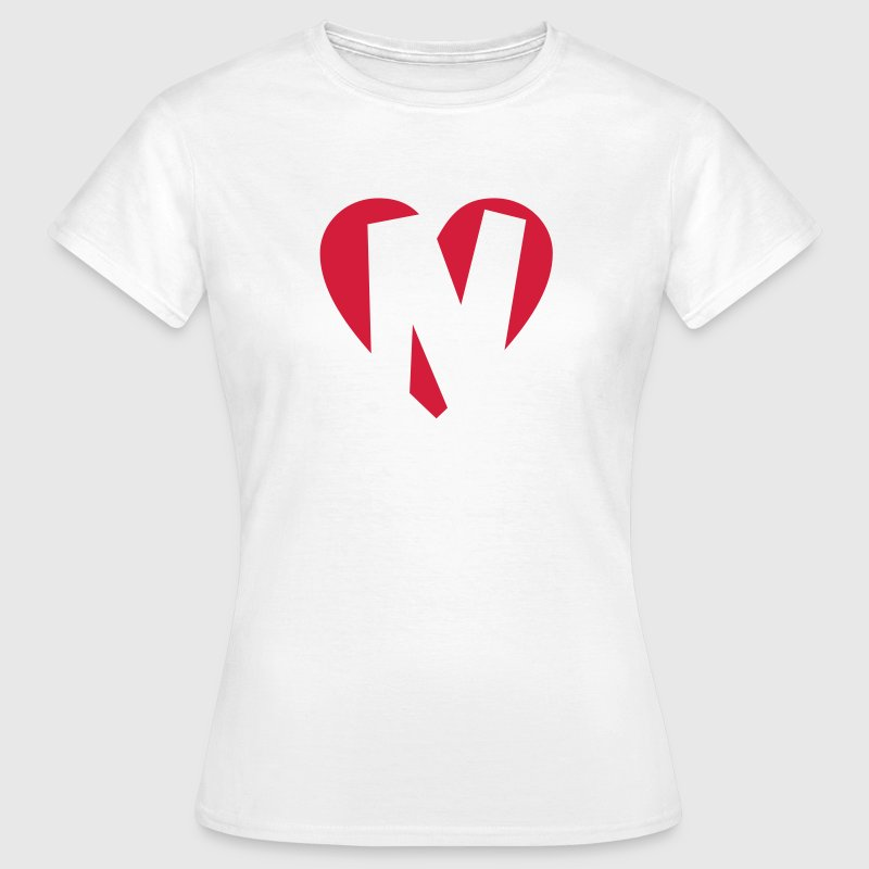 I love N T-Shirt - Heart N - Letter N - Women's T-Shirt