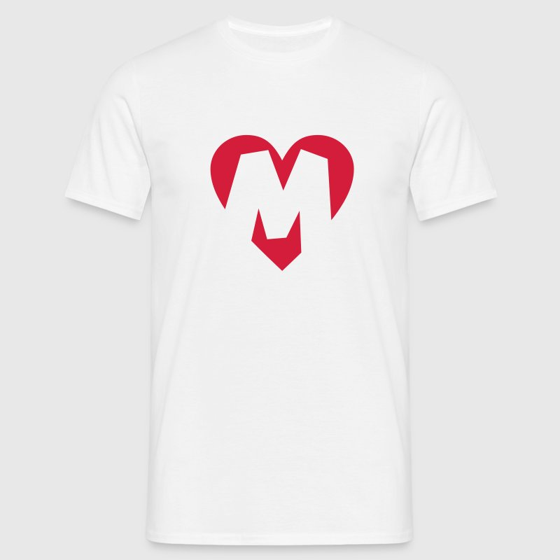 I love M T-Shirt - Heart M - Letter M - Men's T-Shirt
