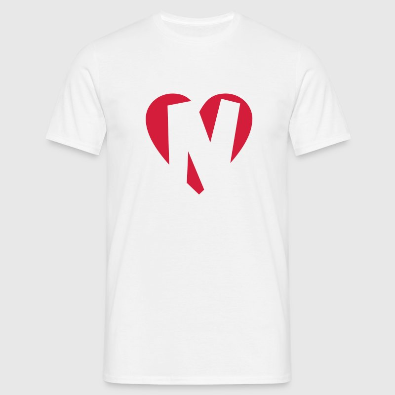 I love N T-Shirt - Heart N - Letter N - Men's T-Shirt