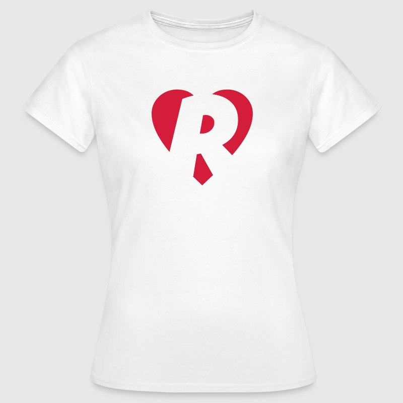 I love R T-Shirt - Heart R - Letter R - Women's T-Shirt