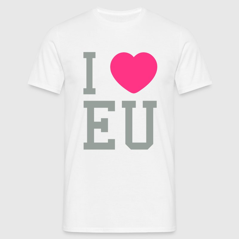 i heart eu T-shirts - Herre-T-shirt