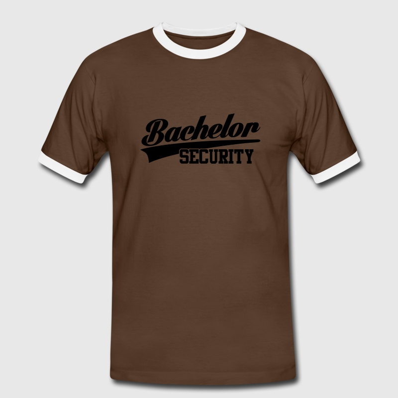 bachelor security T-shirts - Kontrast-T-shirt herr