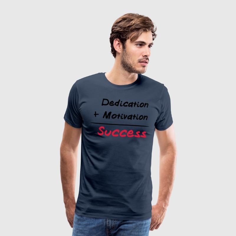 Dedication + Motivation = Success T-shirts - Premium-T-shirt herr