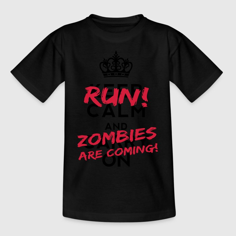 Zombies Are Coming Monster T-Shirts - Teenager T-Shirt
