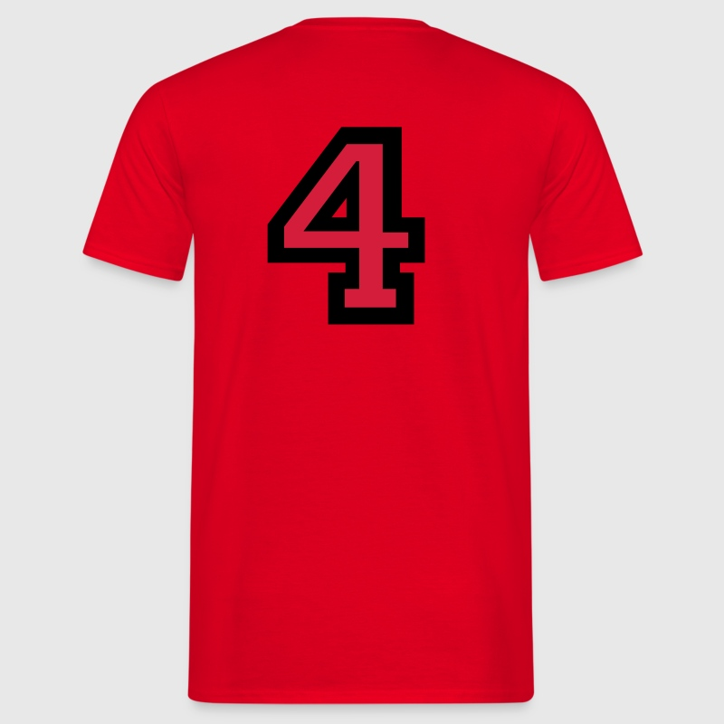 Number 4 T-Shirt - Men's T-Shirt
