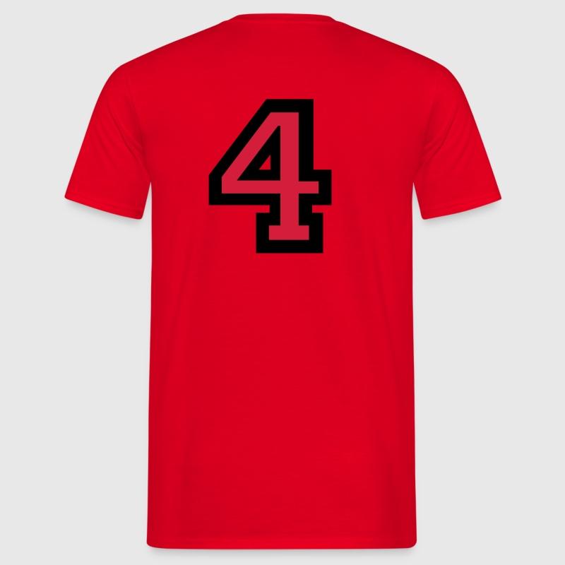 Die Zahl 4  Nummer Vier TShirt  Spreadshirt