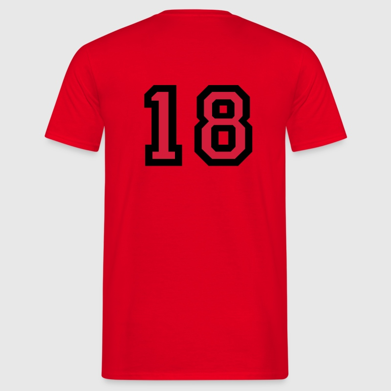 Number 18 T-Shirt - Men's T-Shirt