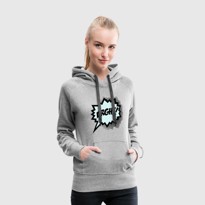 Comic ARGH!, Super Hero, Cartoon, Speech Bubble Sweat-shirts - Sweat-shirt à capuche Premium pour femmes