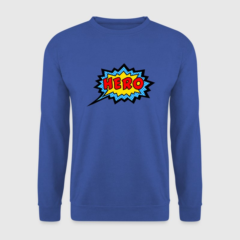 Comic, Hero, Speech Bubble, Superhero, Cartoon Hoodies & Sweatshirts - Men's Sweatshirt