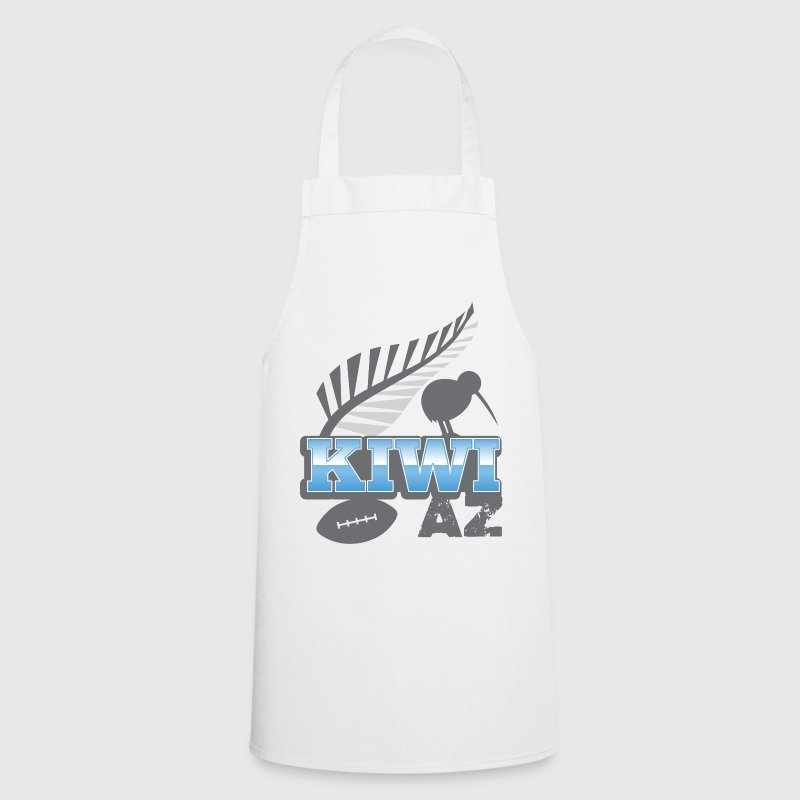 KIWI AZ New Zealand with a rugby ball and bird  Aprons - Cooking Apron