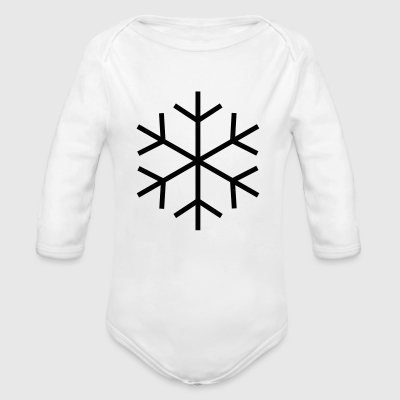 Symbol for cold / ice Hoodies - Organic Longsleeve Baby Bodysuit