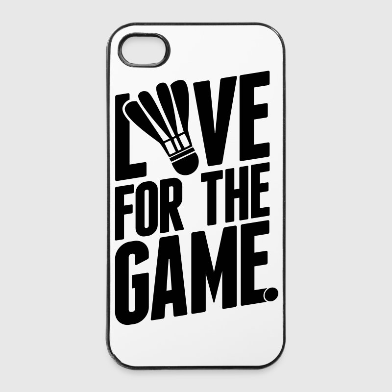 badminton - love for the game Phone & Tablet Cases - iPhone 4/4s Hard Case