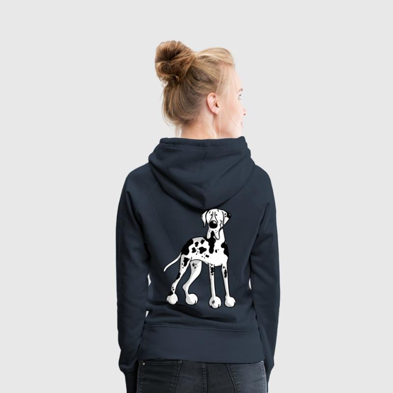 Dogue allemand -  Grand Danois - Great Dane -Chien Sweat-shirts - Sweat-shirt à capuche Premium pour femmes