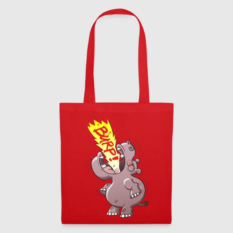 Hippopotamus Burping Loudly Bags & backpacks - Tote Bag