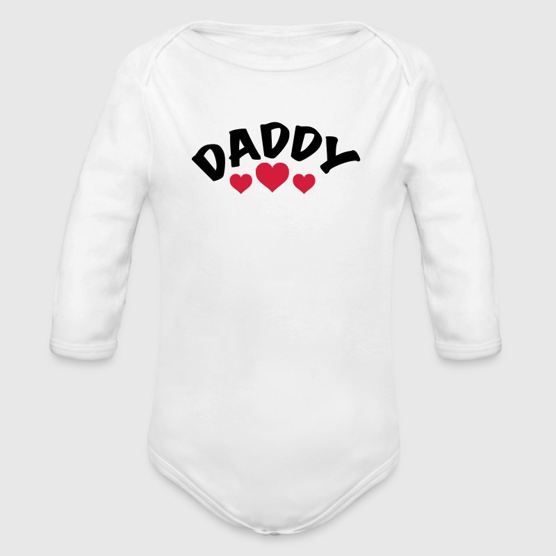 Dad / Daddy / Papa / Herz / i love my dad 2c Pullover & Hoodies - Baby Bio-Langarm-Body