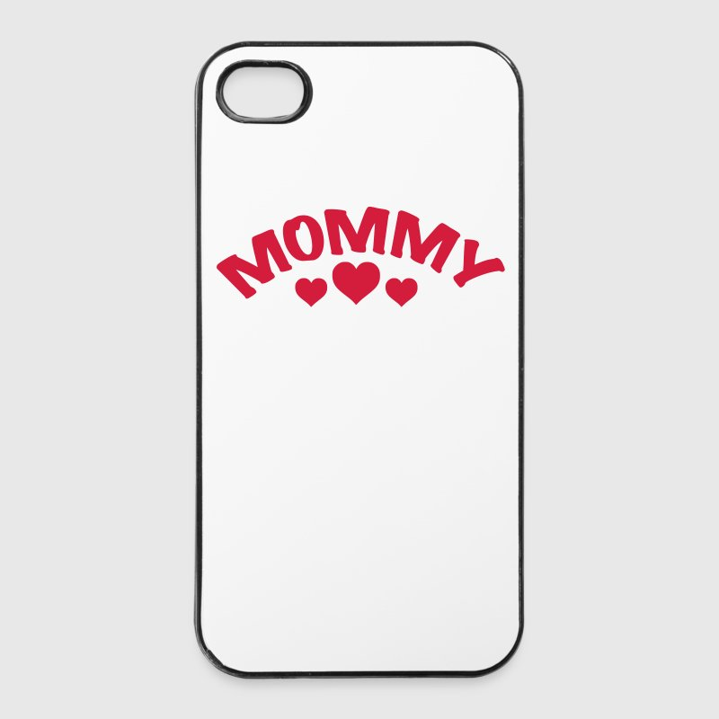 Mamma \/ mamma \/ Mama \/ Herz \/ i love my mom 1c Custodie per cellulari e tablet - Custodia rigida per iPhone 4/4s