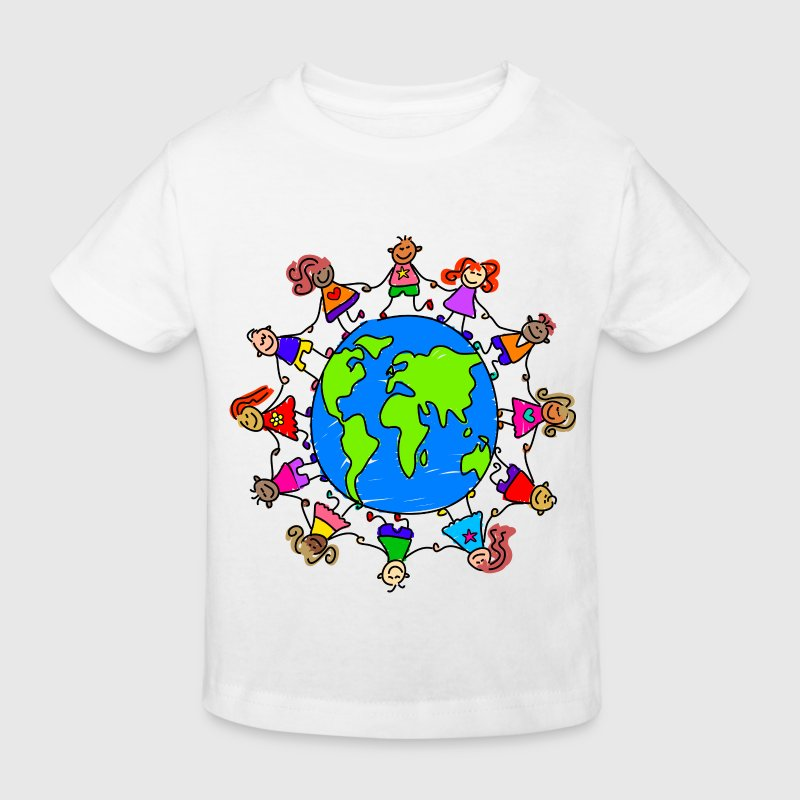 Happy Children Around the World - Kids' Organic T-shirt