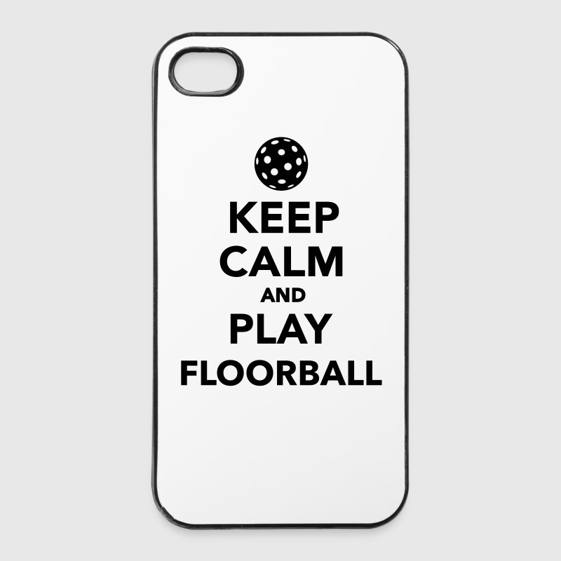 Keep calm and play Floorball - iPhone 4/4s Hard Case