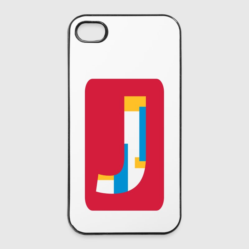 Letter J Phone & Tablet Cases - iPhone 4/4s Hard Case