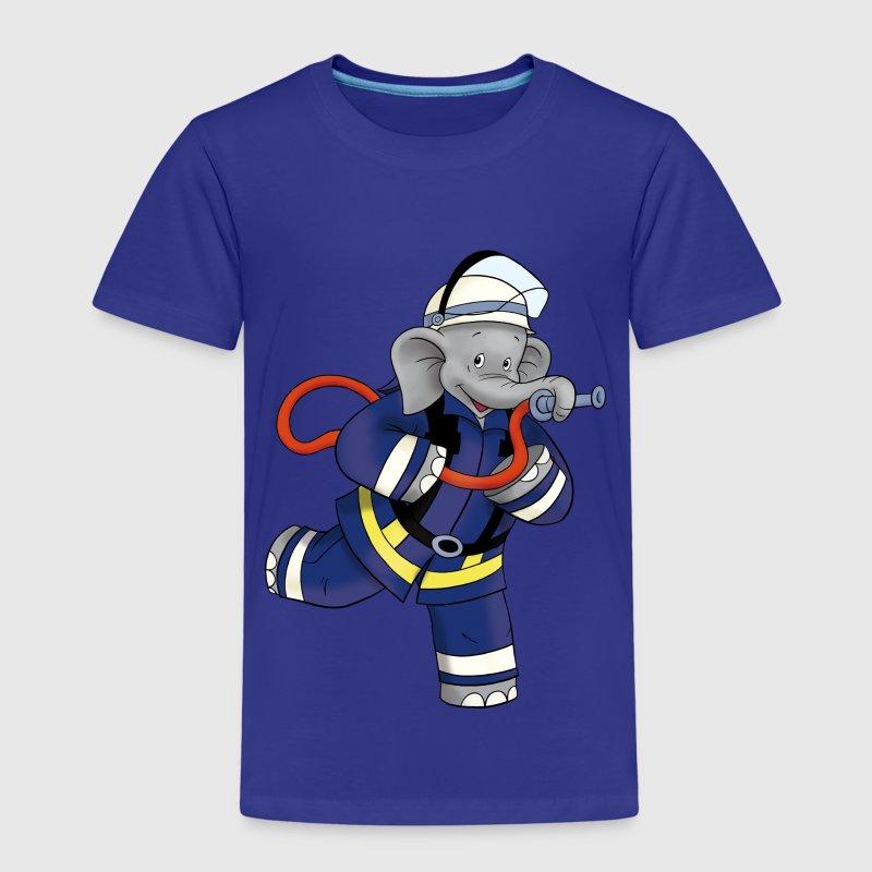 benjamin bl mchen als feuerwehrmann t shirt spreadshirt. Black Bedroom Furniture Sets. Home Design Ideas