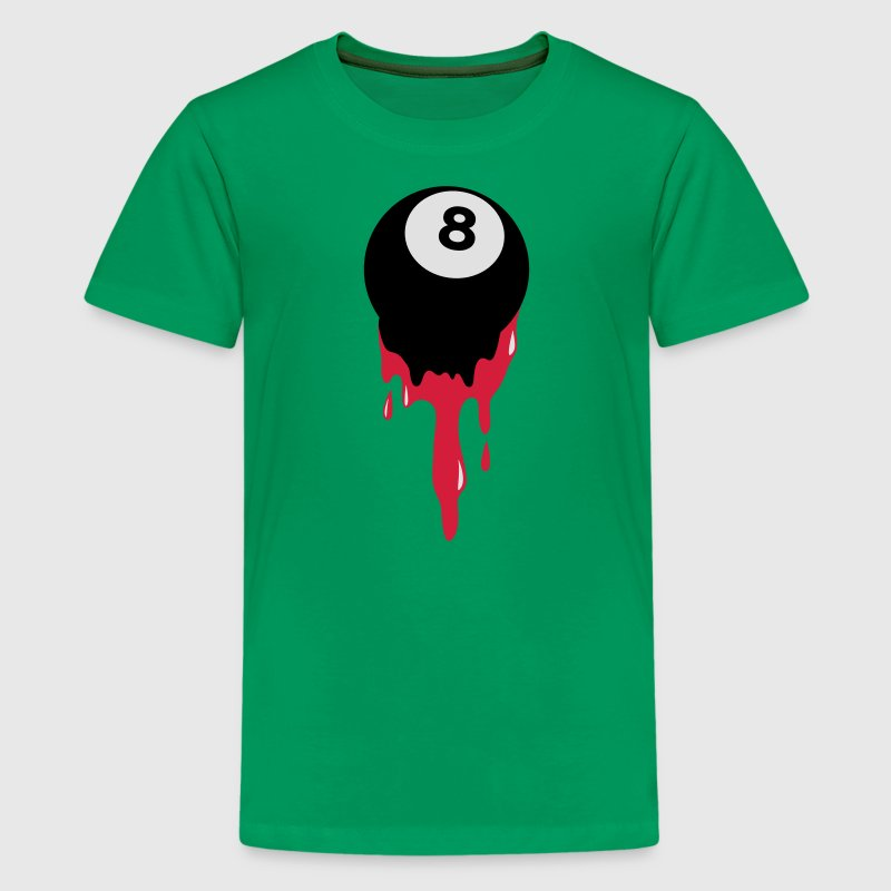 bleeding eight 8 ball from snooker or pool Kids' Shirts - Teenage Premium T-Shirt