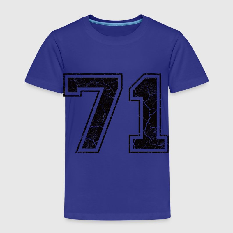 Number 71 in the grunge look Kids' Shirts - Kids' Premium T-Shirt