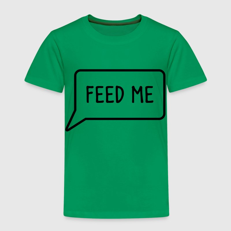 FEED ME speech bubble down Shirts - Kids' Premium T-Shirt