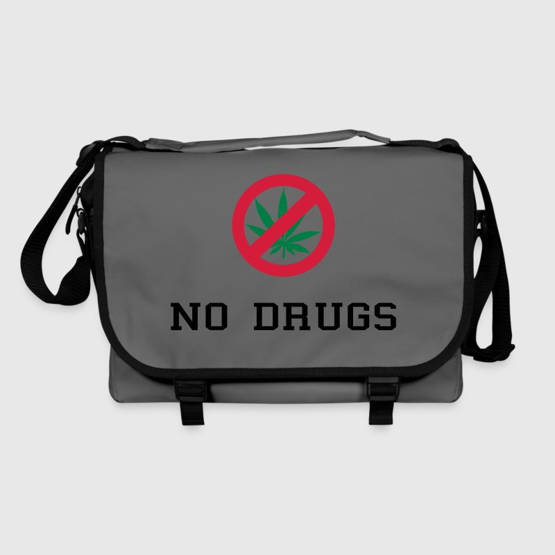 No Drugs / Say no to drugs / Cannabis / Drogen Sacs et sacs à dos - Sac à bandoulière