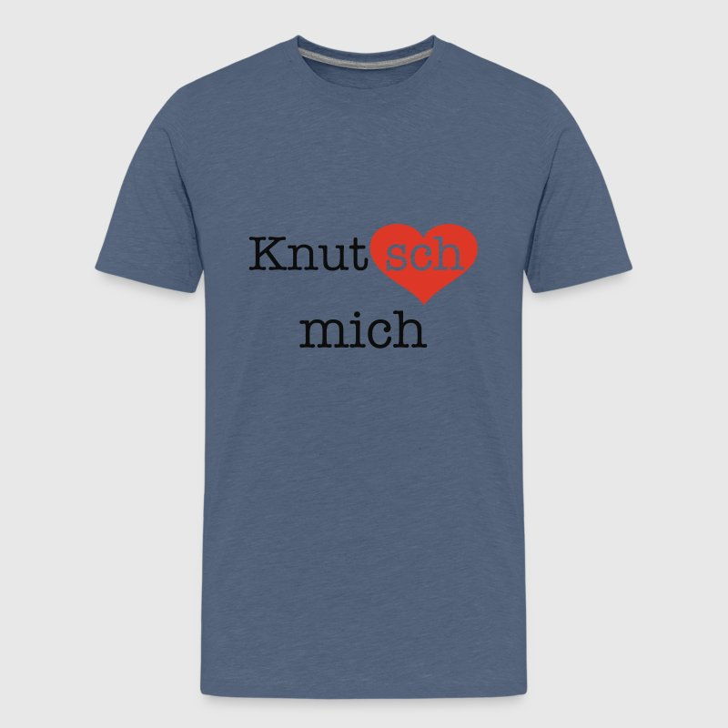 Gelb Knutsch mich Kinder - Teenager Premium T-Shirt