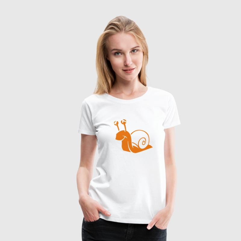 White snail Ladies' - Women's Premium T-Shirt