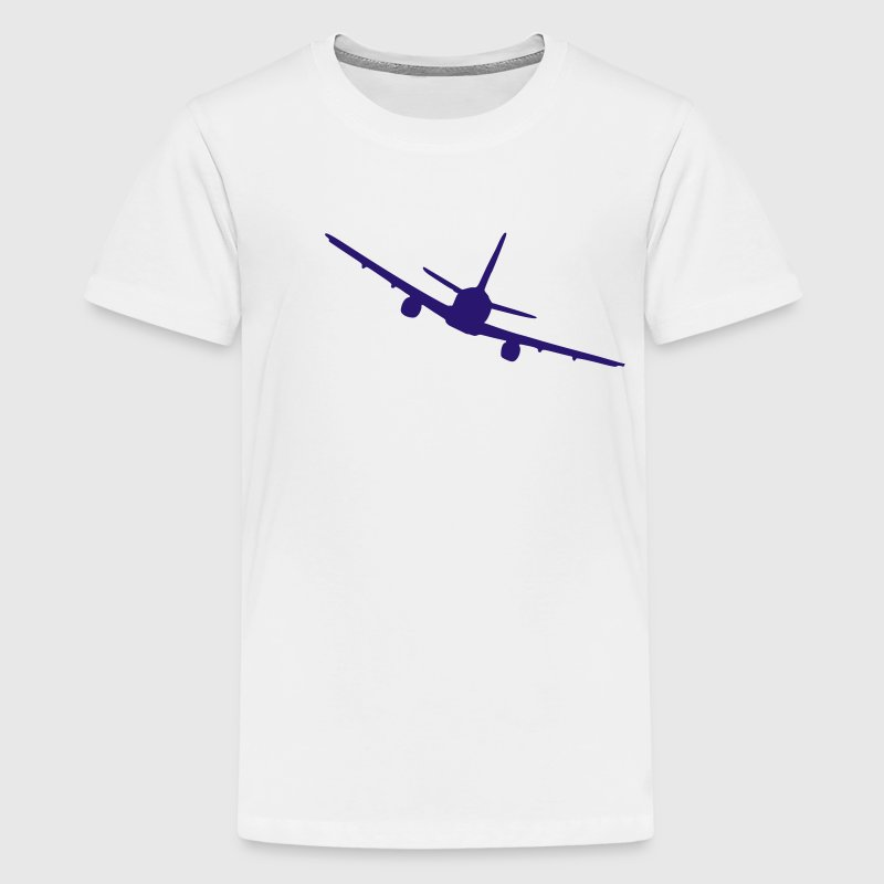 Gelb Flugzeug Kinder Shirts - Teenager Premium T-Shirt