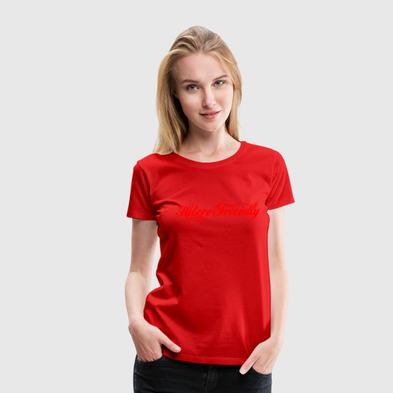 hetero friendly - Women's Premium T-Shirt