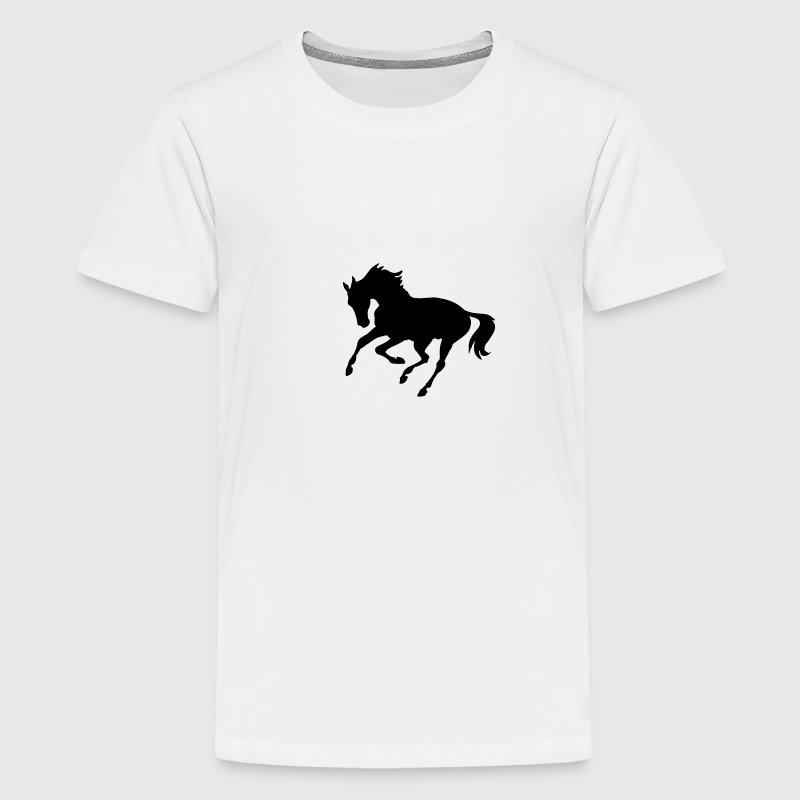Gelb galoppierendes Pferd Kinder Shirts - Teenager Premium T-Shirt