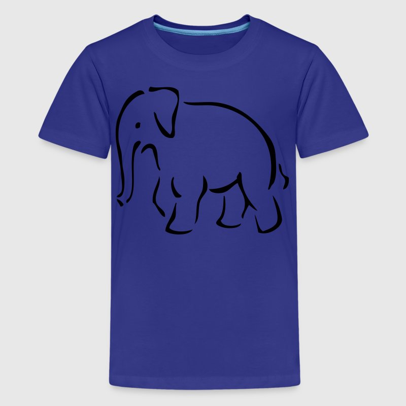 EN-Elefant - Teenage Premium T-Shirt