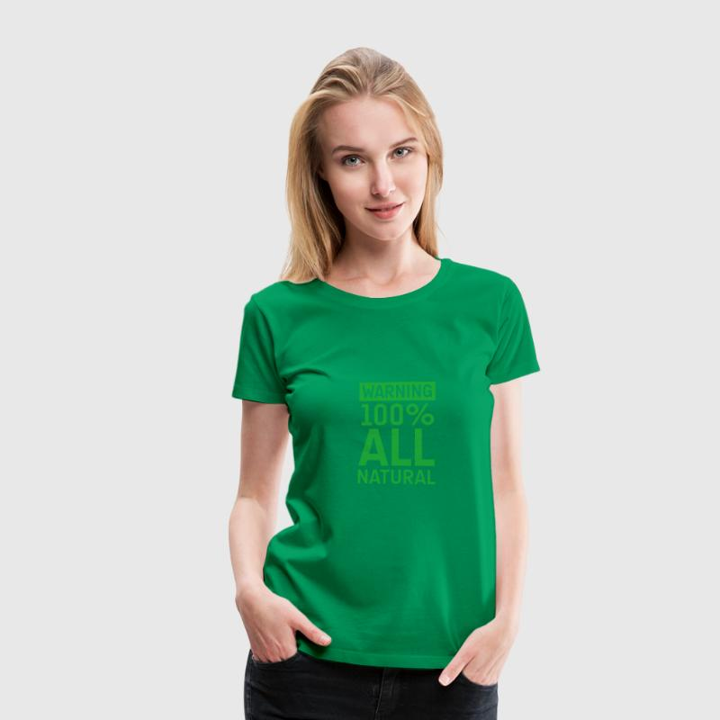 Grasgrün 100natural T-Shirts - Frauen Premium T-Shirt