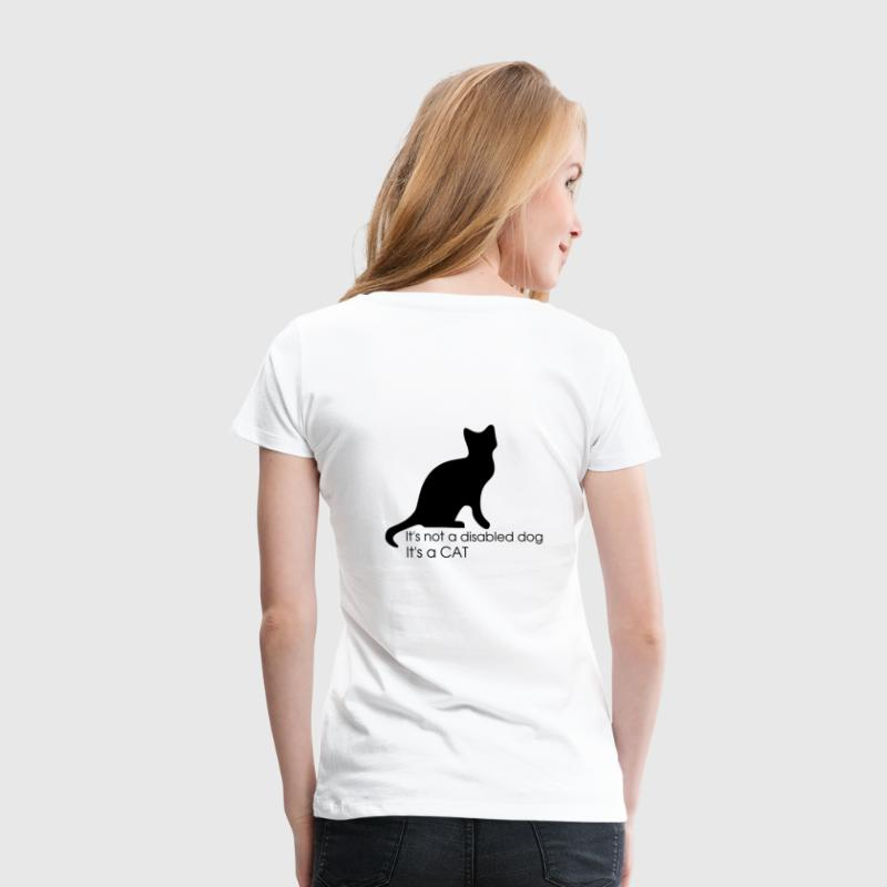 Weiß not_a_disabled_dog T-Shirts - Frauen Premium T-Shirt