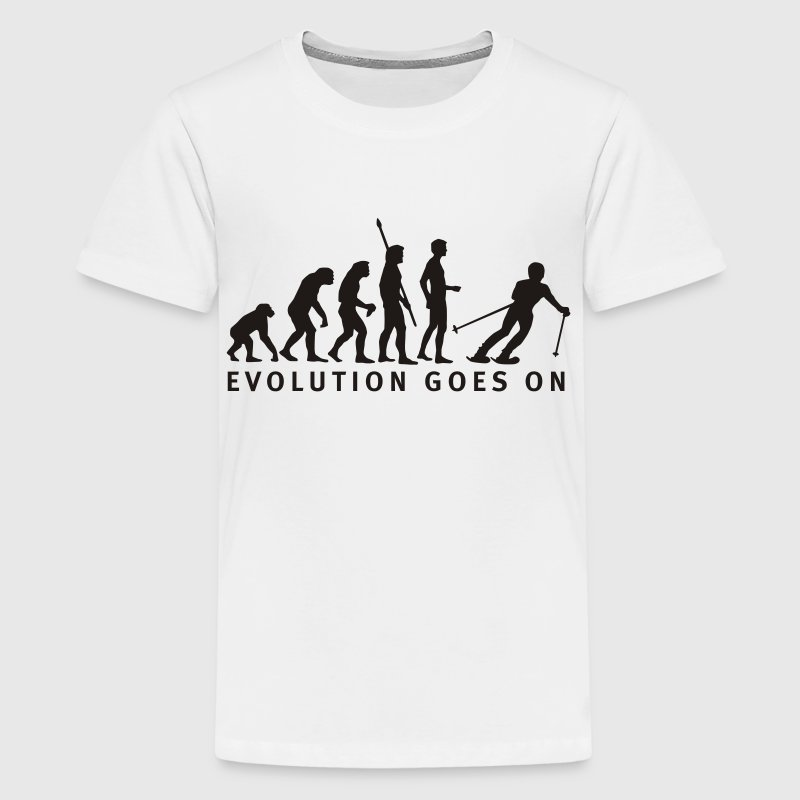 Gelb evolution_ski_b Kinder T-Shirts - Teenager Premium T-Shirt
